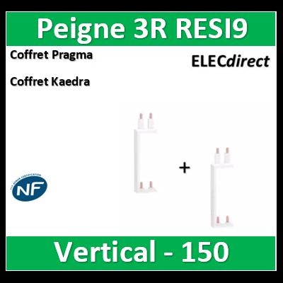 Schneider - Resi9 XP Peigne vertical 3 rangées entraxe 150mm - R9PXV150x2