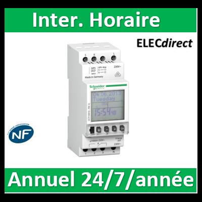 Schneider - Multi9, ITA interrupteur horaire annuel 24h/7jours/année - 1 canal - CCT15910