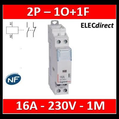 Legrand - Contacteur de puissance bipolaire bobine 230V - 16A - 1O+1F - 412521