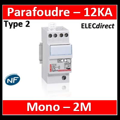 Legrand - Parafoudre bipolaire 220V - Type 2 LEXIC avec protection intégrée - 003951