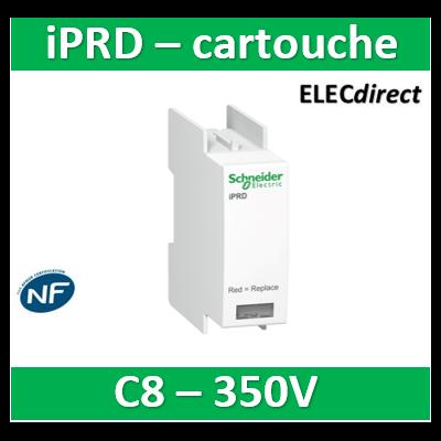 Schneider - Acti9, iPRD cartouche C8 350 pour parafoudre Acti9 iPRD - A9L08102
