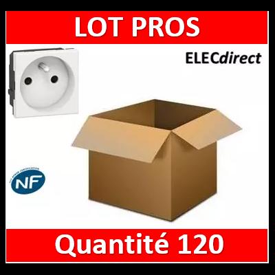 Legrand Mosaic - LOT PROS - Prise de courant 2P+T 16A - 230V - 077111x120
