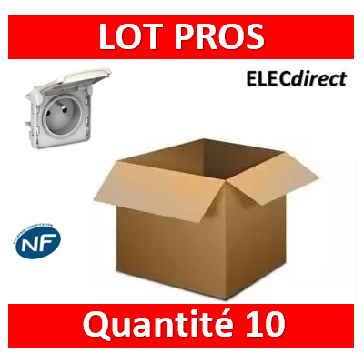 Legrand Plexo - Prise de courant - blanc - composable 16A - 230V - IP55/IK07 - 069621x10