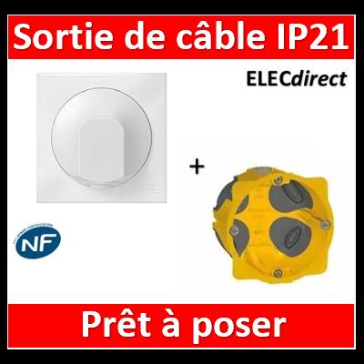 Legrand Dooxie - Sortie de câble IP21 + boîte Batibox BBC - Blanc - 600325+080021+600801