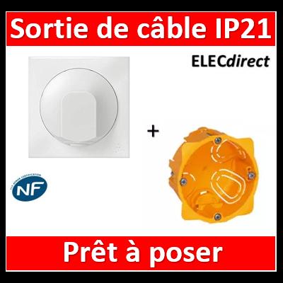 Legrand Dooxie - Sortie de câble IP21 + boîte Batibox - Blanc - 600325+080041+600801