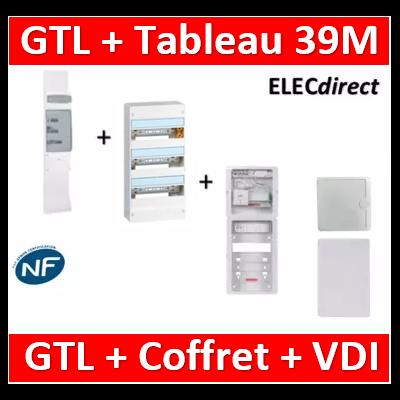 Legrand - Kit GTL 13M complet + tableau 39M + VDI 8RJ45 casanova - 030037+401213+CST625G3CUC