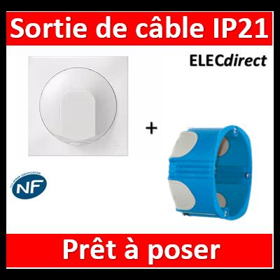 Legrand Dooxie - Sortie de câble IP21 + boîte SIB BBC - Blanc - 600325+36840+600801