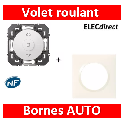 Legrand - Commande de volets roulants dooxie finition + plaque blanc - 600021+600801