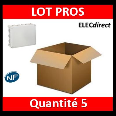 Legrand - Boite Plexo 180x140x86 étanche gris IP55/IK07- 750°C - 092052x5