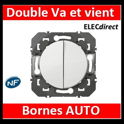 Legrand - Double interrupteur ou va-et-vient dooxie 10AX 250V~ finition blanc - 600002