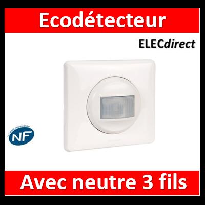 Legrand Céliane - Ecodétecteur complet - Avec neutre - 230V - 067025+068299+066631+080251