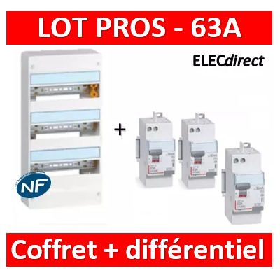 Legrand - LOT PROS - 401213+411650x2+411651