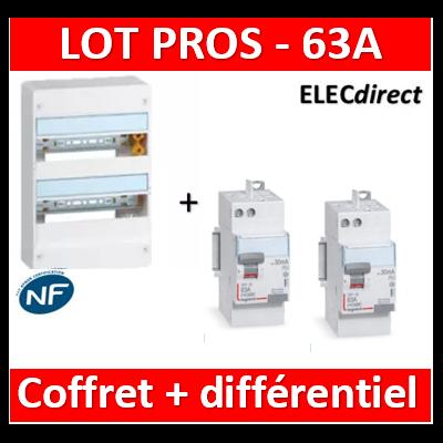 Legrand - LOT PROS - 401212+411650+411651