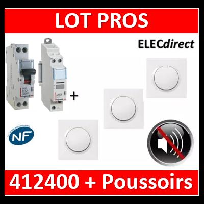Legrand - CX3 silencieux unipolaire + DPN 10A + 3 poussoirs - 412400+406773+600801x3+600004x3
