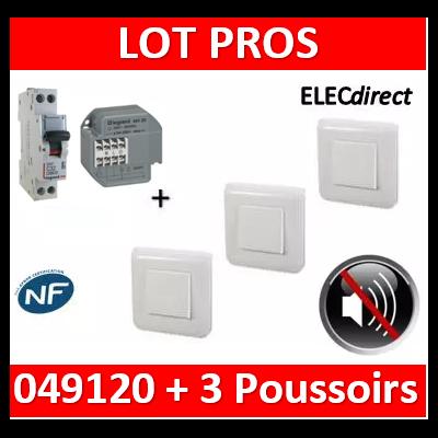 Legrand - Unipolaire 16A + DPN 10A + 3 Poussoirs Mosaic - 049120+406733+077040x3+078802x3+080251x3