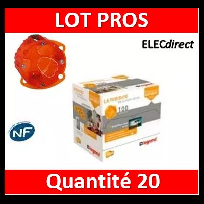 Legrand Batibox - Boîte multimatériaux 1 poste profondeur 40 mm - 080101x20