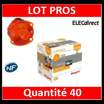 Legrand Batibox - Boîte multimatériaux 1 poste profondeur 40 mm - 080101x40