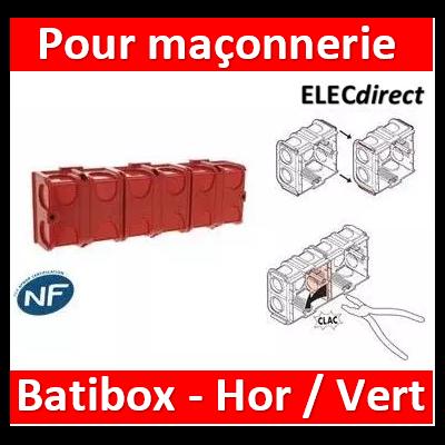 Legrand Batibox - Boîte à sceller 4 postes prof. 30mm - 080131x4