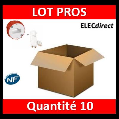 Legrand Batibox - Boîte à sceller - Couvercle DCL pour applique borne AUTO + Douille - 089204x10+11127x10