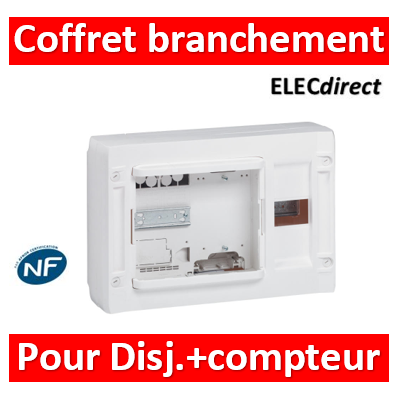 Legrand - Coffret de branchement d'abonné XL³125 pour disjoncteur branchement et compteur monophasé Enedis - 401653