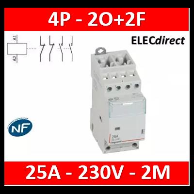 Legrand - Contacteur bobine 240V 4P-400V~ 25A- 2O+2F - 412533