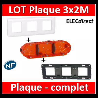 Legrand Mosaic - LOT - Plaque 3x2 modules - horizontal - 078806+080253+080103