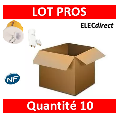 Legrand Batibox - Kit point de centre DCL+ Douille/Fiche SIB - 089337x10+11127x10