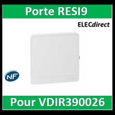 Schneider - Resi9 - porte styl Blanc coffret pour VDIR390026 - R9H13415