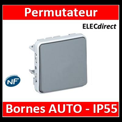 Legrand - Permutateur Legrand Plexo composable gris - 10 AX - 069521