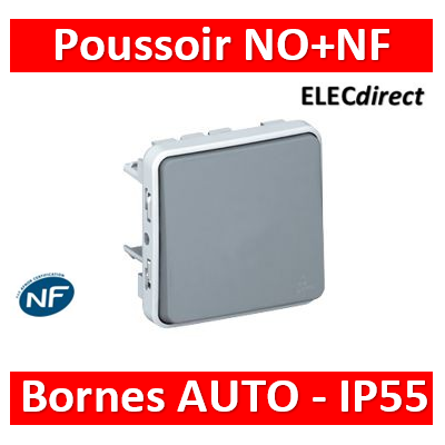 Legrand Plexo - Poussoir NO+NF composable 10A - 230V - IP55/IK07- 069541