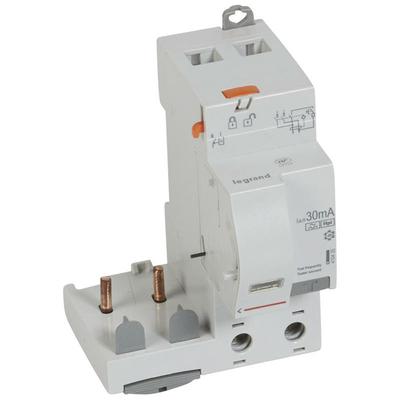 Legrand - Bloc différentiel adaptable à vis DX³ pour disjoncteur 1M par pôle - 2P 230V~ - 63A - typeF 30mA- 410435