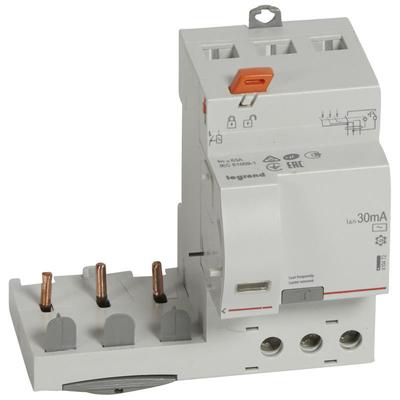 Legrand - Bloc différentiel adaptable à vis DX³ pour disjoncteur 1M par pôle - 3P 400V~ - 63A - typeAC 30mA - 410472