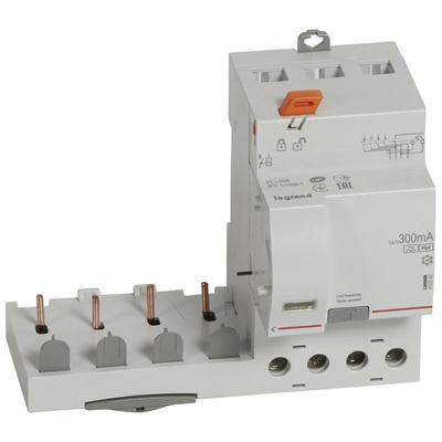 Legrand - Bloc différentiel adaptable DX3-vis-4P-400V~-40A-typeF-300mA-Disjoncteur 1mod/pôle-câbl trad - 410545