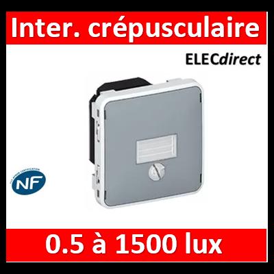 Legrand - Interrupteur crépusculaire Legrand Plexo composable gris - 1400 W - 069517