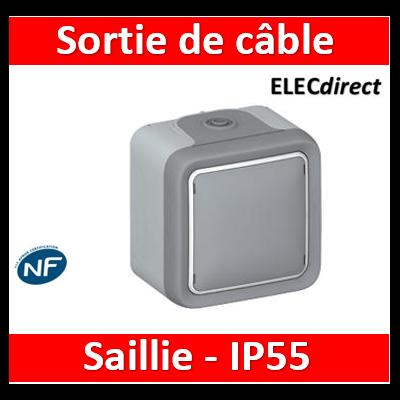 Legrand Plexo - Sortie de câbles avec serre-câbles Plexo complet IP55 saillie - gris - 069745