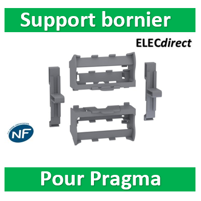 Schneider - Resi9 - Kit supports borniers pour coffrets Resi9 24 et Pragma ou tout rail Din - LGYT601R