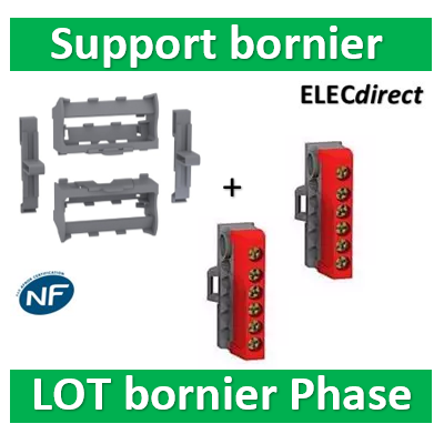 Schneider - Resi9 - Kit supports borniers pour coffrets Resi9 24 et Pragma ou tout rail Din - LGYT601R+R9H13411x2