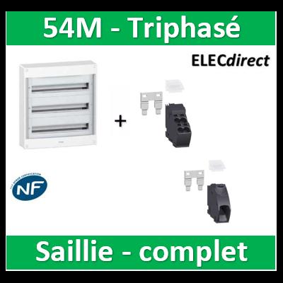Schneider - Coffret électrique PRAGMA 54M - 3R de 18M - Triphasé - PRA13753+PRA90046+PRA90047