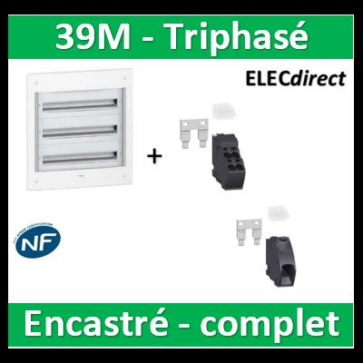 Schneider - Coffret électrique PRAGMA - encastré - 39M - 3R de 13M - PRA32313+PRA90046+PRA90047