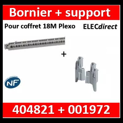 Legrand - Support de borniers - vide - 50 trous - pour coffrets Plexo³ 18M - 404821+001972