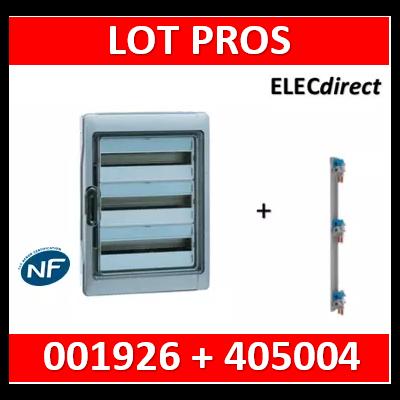 Legrand - Coffret étanche Plexo 54 modules - 3 rangées - IP65/IK09 + peigne vertical - 001926+405004