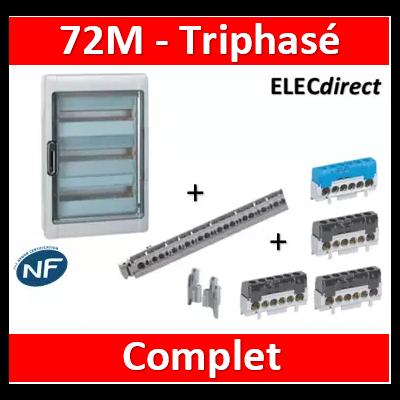 Legrand - 72M triphasé - 4R - 001927+001972+404821+004816x3+004815