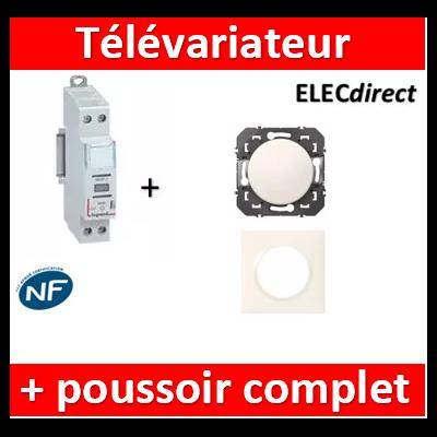LEGRAND - Variateur modulaire LEDs + 1 poussoir Dooxie - 002671+600004+600801