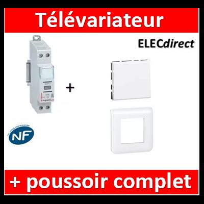 LEGRAND - Variateur modulaire LEDs + 1 poussoir Mosaic - 002671+77040+078802