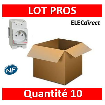 Legrand - LOT PROS - PC 2P+T 16A 220V à Eclips Modulaire - 004280x10