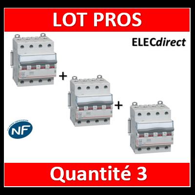 Legrand - DX3 Interrupteur-sectionneur tétrapolaire 63A - 406481x3
