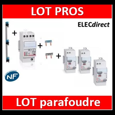 Legrand - Parafoudre 2P - Type 2 + 2 Diff. 63A AC + 1 Diff. 63A A + Peignes V 3R + Peignes Ph+N 2M
