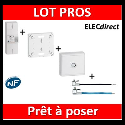 Legrand - Disjoncteur de branchement EDF + platine + habillage + porte + embout Ph+N - 401051+401191+401185