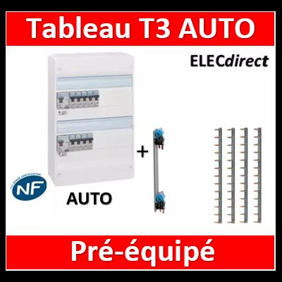 Legrand - Tableau électrique - spécial pour logement T3 - Pré-équipé - AUTO
