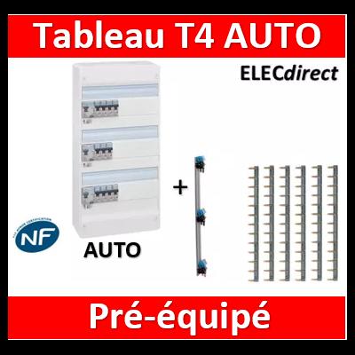Legrand - Tableau électrique - spécial pour logement T4 - Pré-équipé - AUTO